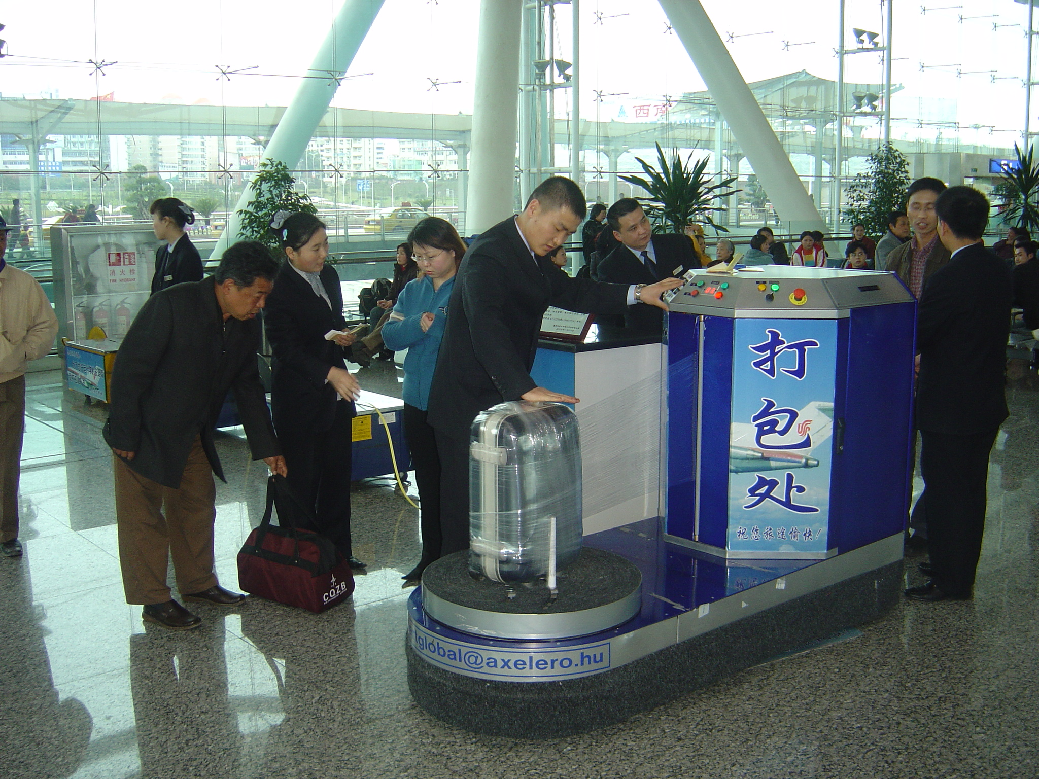 Airline, Airport Aspects of Security Wrapping